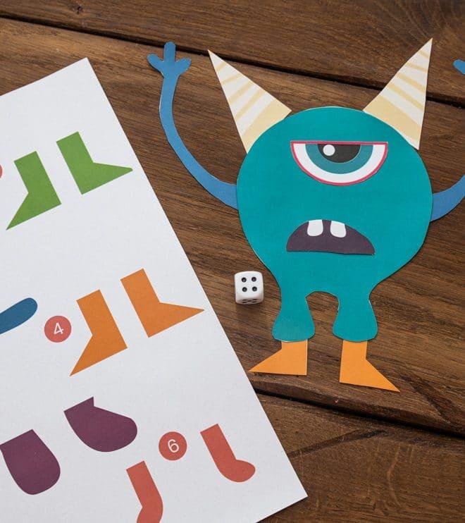 Monster Kindergeburtstag Wuerfelspiel Anleitung Vorlage Shop