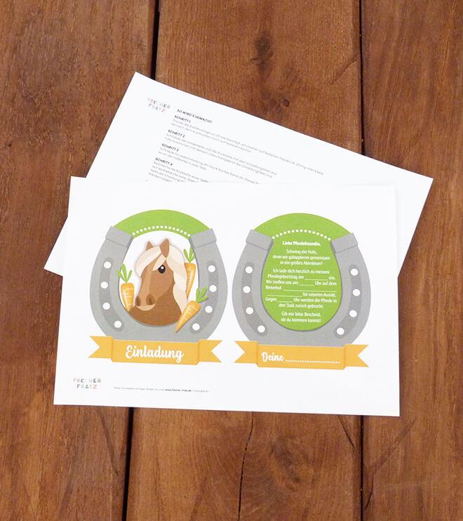 Pferde-Geburtstag-Einladung Rosette_Shop01.