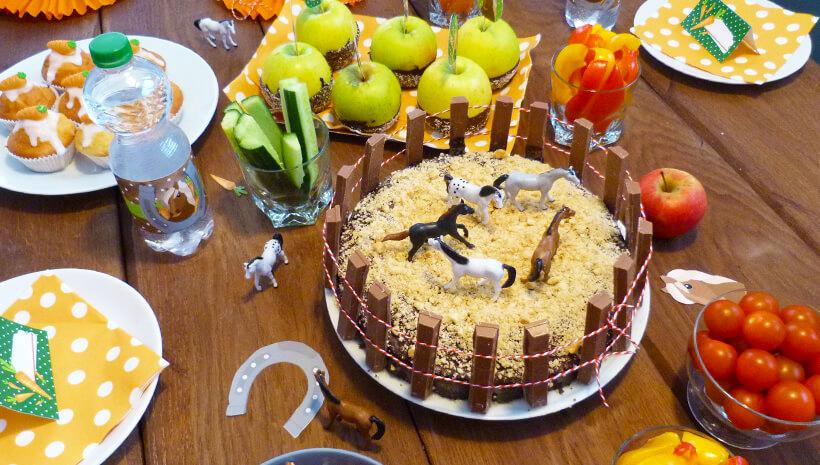 Pferde-Geburtstag-Geburtstagskuchen