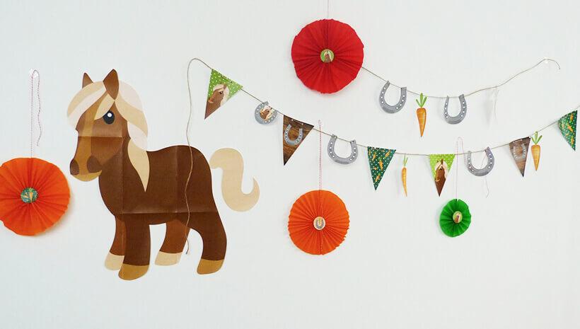 Pferde-Geburtstag-Pferde-Wimpelkette