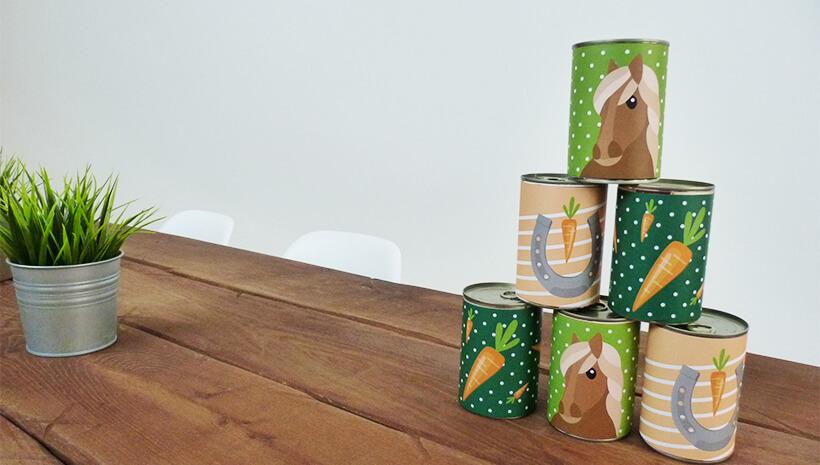 Pferde-Kindergeburtstag-Dosenwerfen