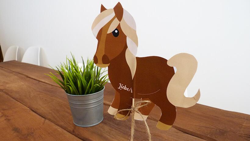 Pferde-Kindergeburtstag-Einladung-Steckenpferd