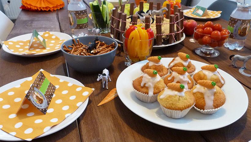 Pferde-Kindergeburtstag-Pferde-Muffins