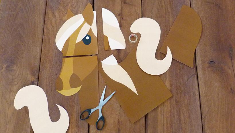 Pferde-Kindergeburtstag-Spiel-basteln