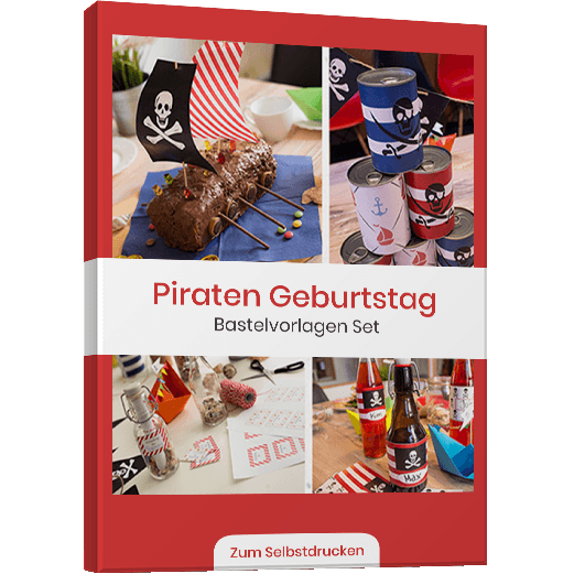 Piraten Kindergeburstag Vorlagenbundle