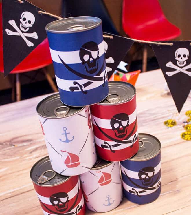 Piratengeburtstag Dosenwerfen Piratenspiele