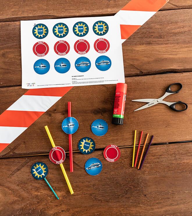 Polizei-Geburtstag-Dekopicker-Shop-Kinder-Kindergeburtstag-Bastelvorlage