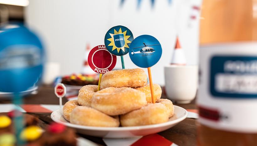 Polizei-Geburtstag-Donuts-Snack-Ideen-Kindergeburtstag
