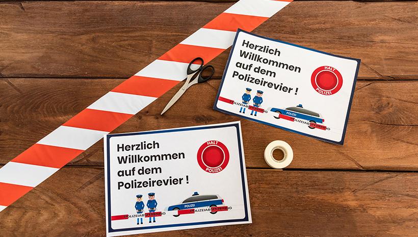 Polizei-Geburtstag-Willkommensschild-Vorlage