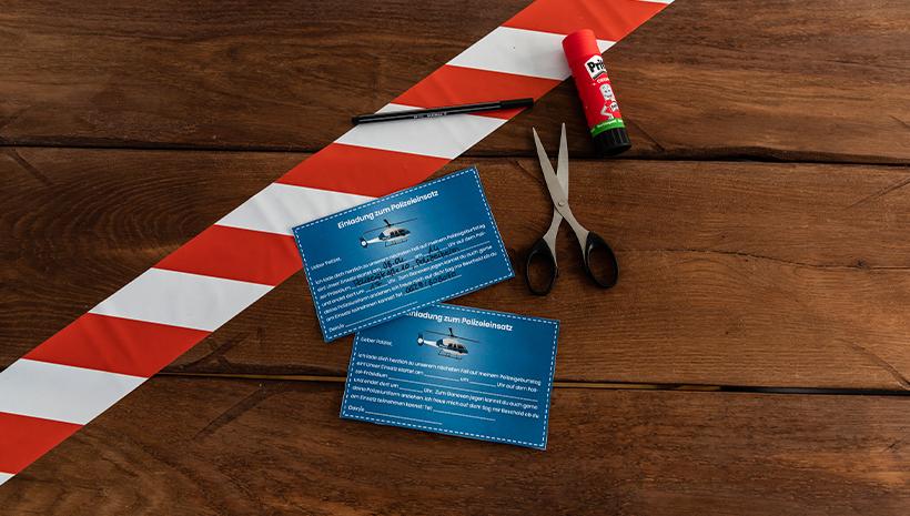 Polizei-Kindergeburtstag-Postkarte-Einladung
