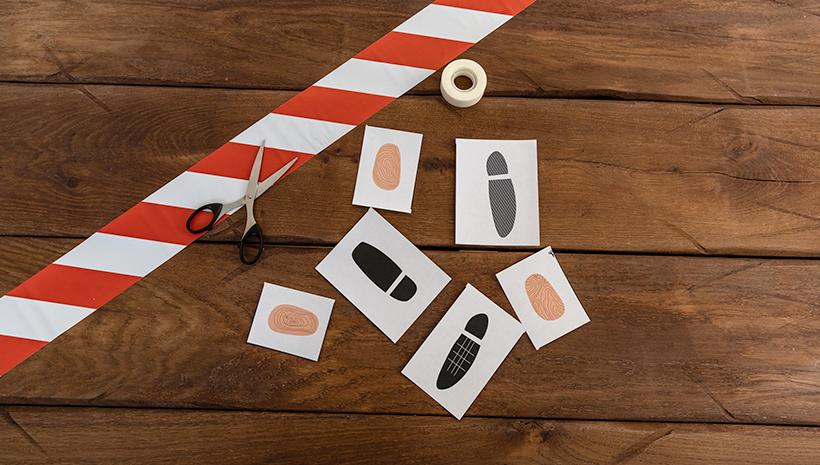 Polizei-Kindergeburtstag-Spiel-Spurensuche