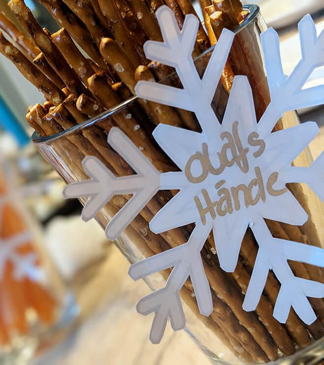Eiskoenigin Kindergeburtstag Schneeflocke