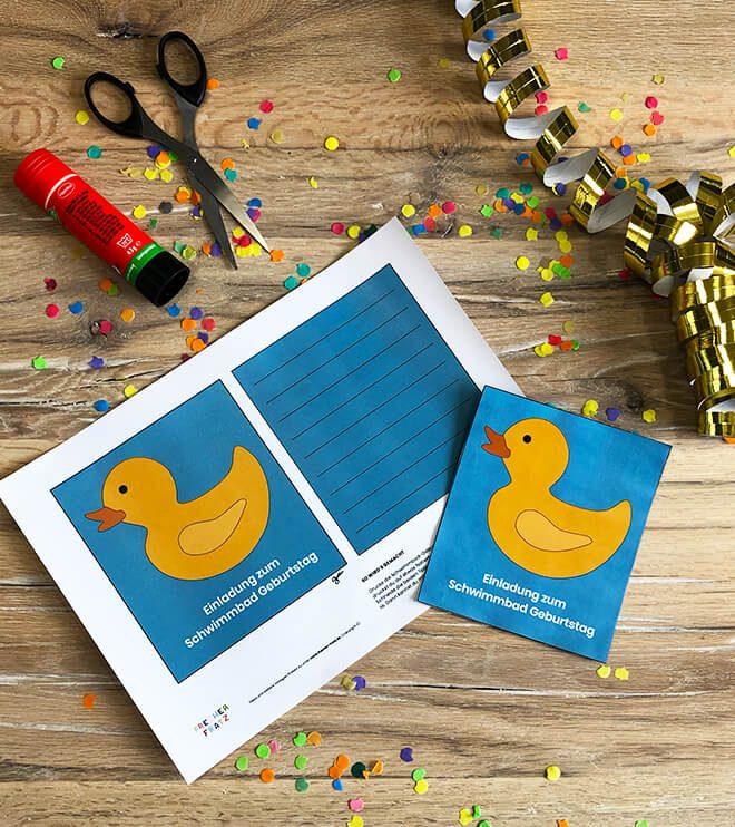 Schwimmbad-Geburtstag-Einladung-Ente