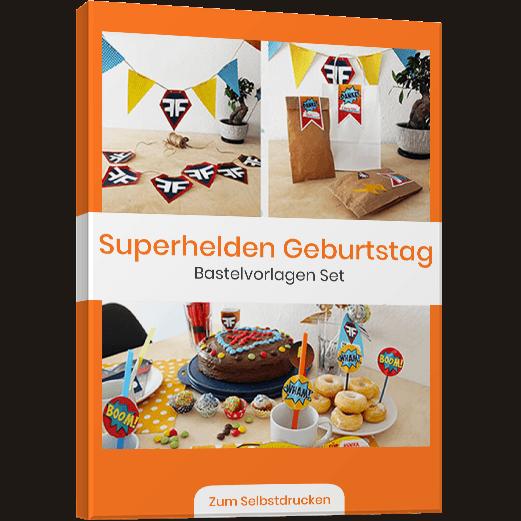 Superhelden Kindergeburstag Vorlagenbundle