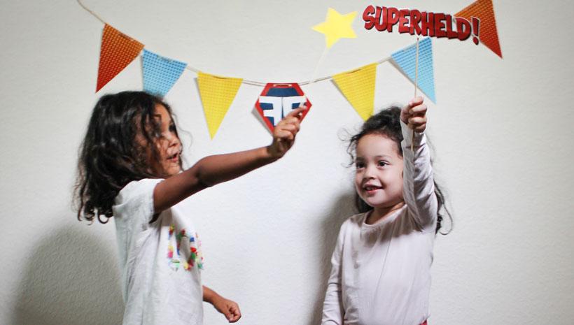 Superhelden-Kindergeburtstag-Fotobooth