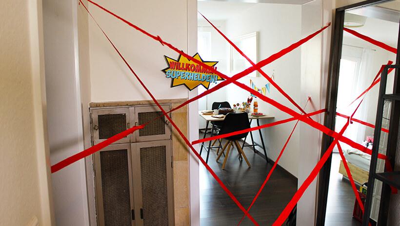 Superhelden-Kindergeburtstag-Lasernetz