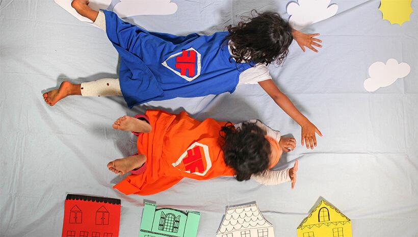 Superhelden-Kindergeburtstag-Superhelden-Flug