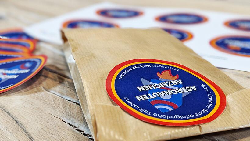 Weltraum Geburtstag Astronauten Abzeichen Mitgebsel