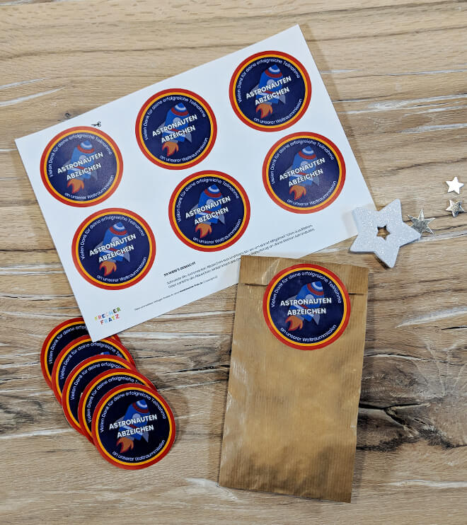 Weltraum Geburtstag Astronauten Abzeichen