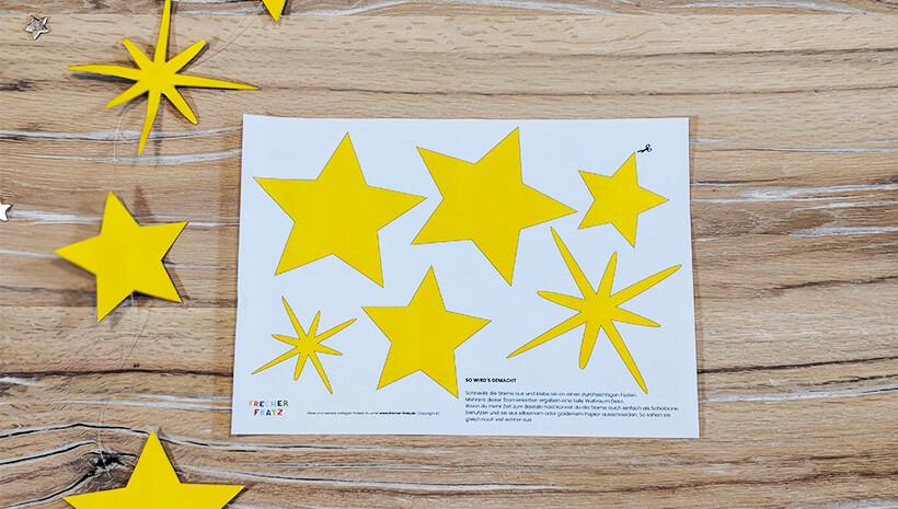 Weltraum Geburtstag Sternenkette